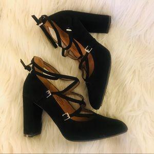 Cato Black Mini Buckle High Heels Size 11